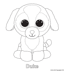 Print Duke Beanie Boo Coloring Pages Birthdays In 2018 Within Baby