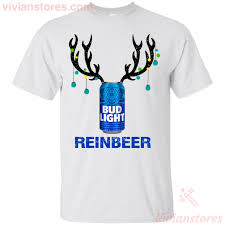 Funny Bud Light Shirts Bud Light Reinbeer Funny Beer Reindeer Christmas T Shirt