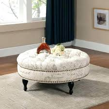 beautiful ottoman coffee tables round fabric table living room with blue material
