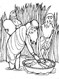 Baby Moses Coloring Page Tapestry Of Grace Year 1 Coloring Pages