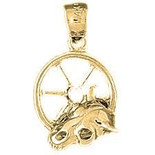 14k gold donkey pendant yellow or pink az5255 14k white nrvtlu5083 precious metal without stones
