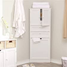 white wooden bathroom furniture. Wood Tall Corner Bathroom Storage Cabinet With Door And White Wooden Bathroom Furniture