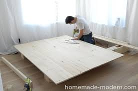 diy platform bed. This DIY Platform Bed Is Made Out Of 2x8s, 2x4s And Pine Boards. I Diy