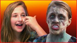 easy zombie makeup tutorial for kids by kids halloween ping baby having fun prank you