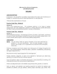 Welders Resume Summary Document Template