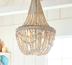 beaded chandelier pottery barn wood bead chandelier wooden bead chandelier diy