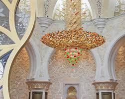 chandelier inside sheikh zayed mosque abu dhabi united arab em stock photo