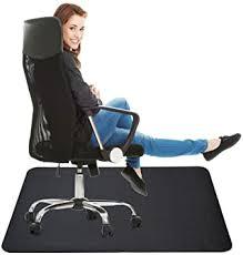 Black <b>Chair</b> Mat <b>for</b> Hard Floor: 35x47 inches <b>Straight</b> Edge ...