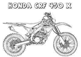 Coloring book pages printable coloring pages coloring sheets motos harley davidson coloring pages for kids. Honda Crf 450x Dirt Bike Coloring Page Free Printable Coloring Pages For Kids