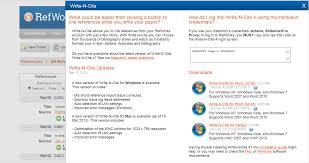 Update Write N Cite Tools Page Refworks Community