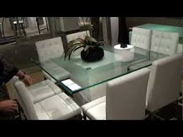 Cubus Square Modern Pedestal Dining Table by Star International