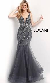 Mermaid Designer Long Beaded V Neck Mermaid Designer Prom Dress