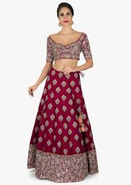 embroidered bridal lehengas, wedding lehengas kalkifashion Wedding Lehenga Price maroon lehenga in silk with a ready blouse elevated in embroidery only on kalki wedding lehenga price in india