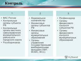 Презентация на тему Мониторинг аудит и контроль в КС начальник  16 Контроль 1 ФАС России Контрольные органы