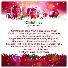 short christmas poems for kids