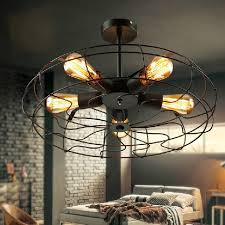 Rustic Industrial Ceiling Fan The Most Amazing Caged Ceiling Fan