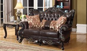 Traditional Furniture Living Room 675 Barcelona Traditional Living Room Set In Rich Cherry By