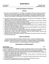 Chief Reliability Officer Resume Template Premium Resume