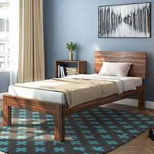 single bed designs. Perfect Single Boston Single Bed Teak Finish Without Trundle By Urban Ladder To Designs G
