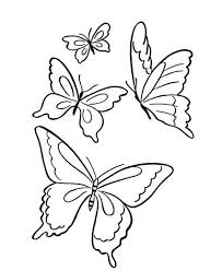 drawing butterfly pictures. Wonderful Drawing Butterfly  Four Butterflies Flying On The Park Coloring Page With Drawing Butterfly Pictures A