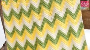 Double Crochet Chevron Pattern Cool Crochet Baby Zig Zag Blanket Tutorial The Crochet Crowd