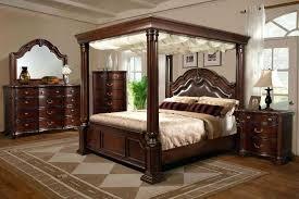 Wooden Canopy Elements International Wooden Canopy Bedroom Black ...