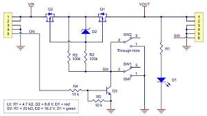 pololu mini mosfet slide switch reverse voltage protection schematic diagram of mosfet slide switch reverse voltage protection