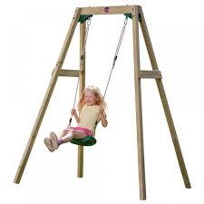 wooden single swing set fancybox