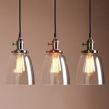 Industrial Pendant Lights For Kitchen Details About Vintage Industrial Ceiling Lamp Cafe Glass Pendant