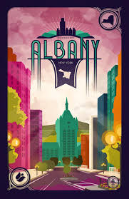 Graphic Design Albany Ny Downtown Albany Ny Print New York Poster City Of Albany State Street Empire Plaza Suny Capital District Wall Art Graphic Design