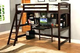 double bunk bed desk underneath elevated with beds loft combo desks unde