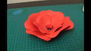 Flower Made In Paper Diy Poppy Flower Made Of Paper
