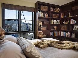 view in gallery beautiful corner bookshelf in the bedroom doubles as a wonderful display