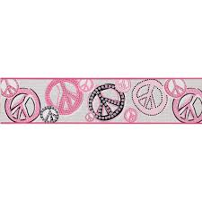 Peace Wallpaper For Bedroom Wall Borders Peace Sign Wall Borders Stores Html Cachedpeace