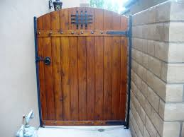 pedestrian side gate with gate designs including a speak easy ring pull lever