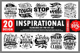 Svg file (all in one file & individually saved). Inspirational Quotes Bundle Vol 1 Graphic By Printablesvg Creative Fabrica