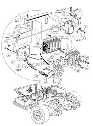 on board computer 48v club car parts & accessories club car battery wiring diagram 36 volt at 2000 Club Car Golf Cart Electric Wiring