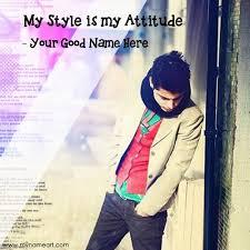 stylish atude boy image edit with name