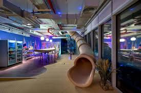 Who Wouldn\u0027t Want A Slide In Their Office? Modern Office  O
