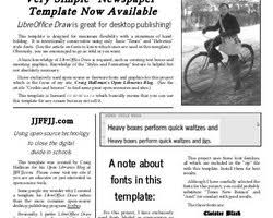 Libreoffice Letter Template Newspaper Style Newsletter For Libreoffice Draw Libreoffice