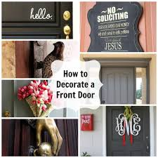 front door monogramHow to Decorate a Front Door  Pursuit of Functional Home