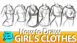 How To Draw Girl Shirts How To Draw Shirts For Women Youtube