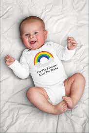 Boy Or Girl Baby Announcement Im The Rainbow After The Storm Onesie Rainbow Baby Shower