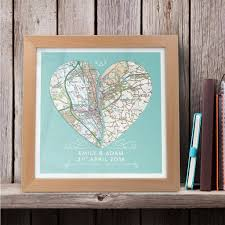 wall art personalised joined heart framed map print on personalised framed wall art uk with personalised joined heart framed map print butler and hill uk