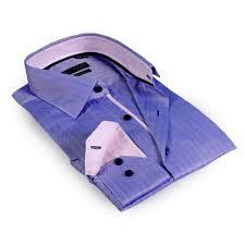 Light Purple M Ms Solid Collar Herringbone Button Up Shirt Blue Light