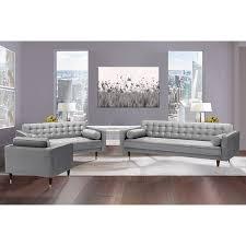 somerset grey velvet mid century modern