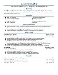 Hr Coordinator Cv Sample Amazing Human Resources Resume Examples Livecareer