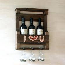 handmade wood rustic wine rack gift for couple mosaic personalized wall mounted hung philippines wall hung wine rack