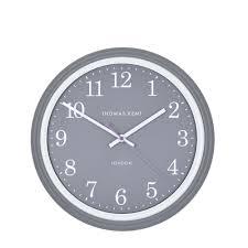 breton wall clock 33cm charcoal grey