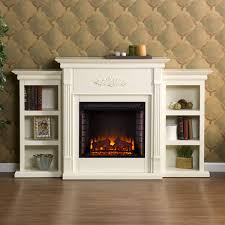 tennyson electric fireplace w bookcases ivory set of 1 fe8544 by southern enterprises fireplaces living room bernie phyl s furniture by
